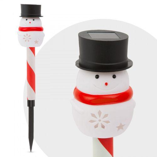 LED-es szolár lámpa - hóember