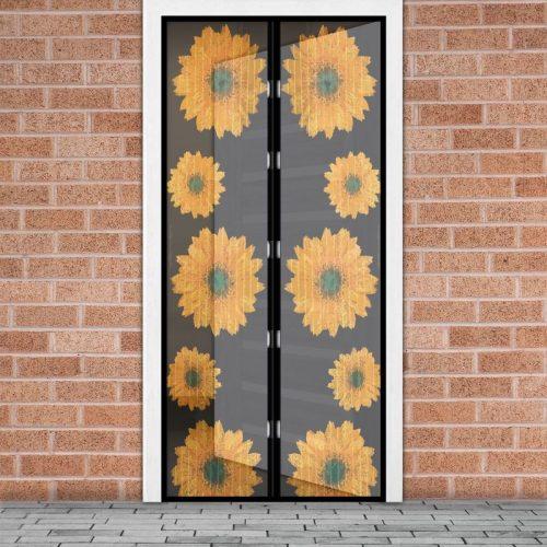 Mágneses szúnyogháló függöny ajtóra - napraforgó