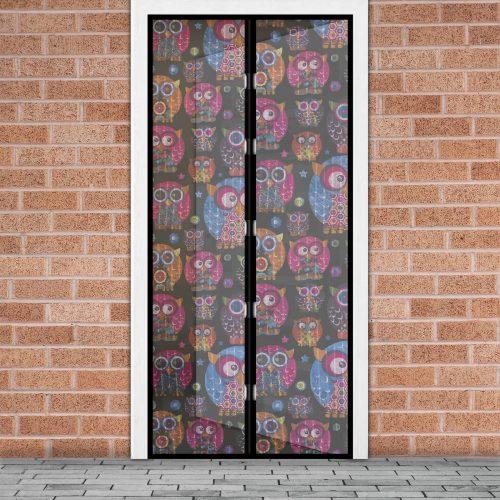 Mágneses szúnyogháló függöny ajtóra - baglyos
