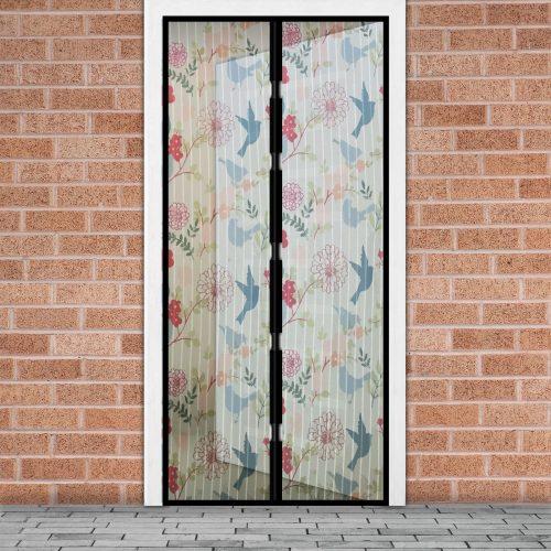 Mágneses szúnyogháló függöny ajtóra - Madár mintás