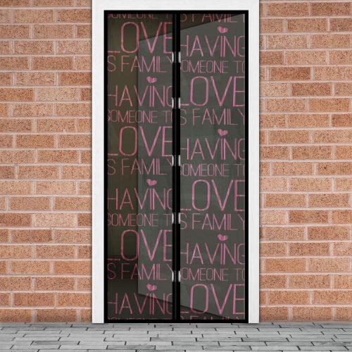 """Mágneses szúnyogháló függöny ajtóra - """"Love"""" felirat"""