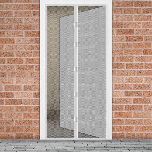 Mágneses szúnyogháló függöny ajtóra - fehér