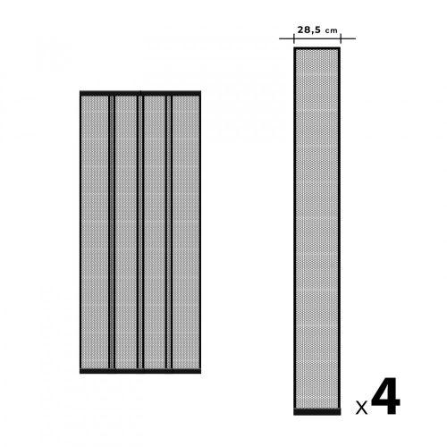 Szalagos szúnyogháló függöny ajtóra - fekete