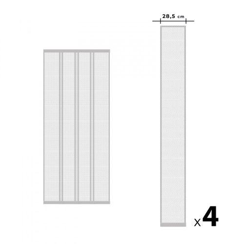 Szalagos szúnyogháló függöny ajtóra - fehér