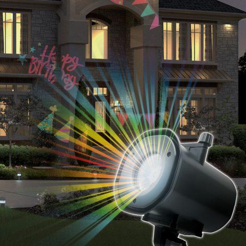 LED Party fényjáték, cserélhető mintákkal