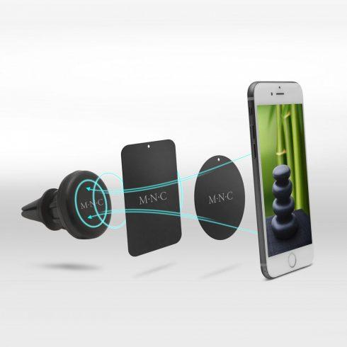 MNC Forgatható mágneses telefontartó autóba