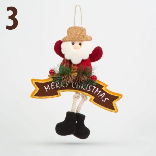 Karácsonyi ajtódísz - többféle - láblógatós - 16 x 20 cm