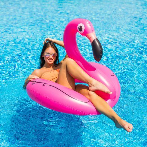 Úszógumi - flamingó - 120 cm