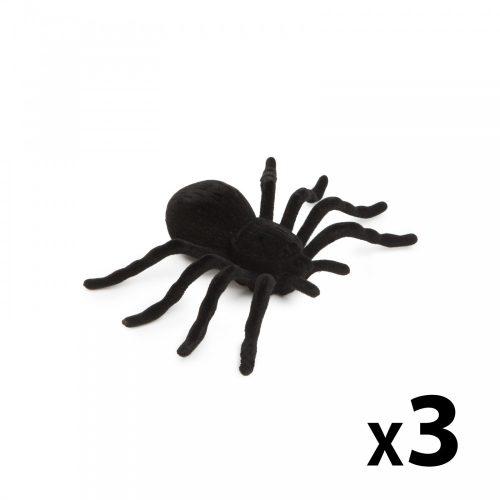 Halloween-i dekoráció - pók - 3 db / csomag