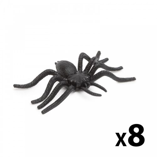 Pók szett - halloween-i dekoráció - fekete - 8 db