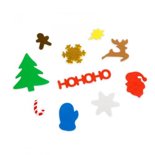 Karácsonyi kreatív habmatrica szett - 50 db / csomag