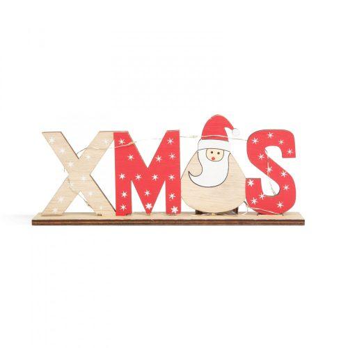 LED-es karácsonyi polcdísz - mikulásos - 21 x 4 x 8,5 cm