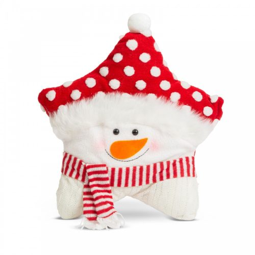 Karácsonyi 3D díszpárna - hóember - 35 x 42 cm
