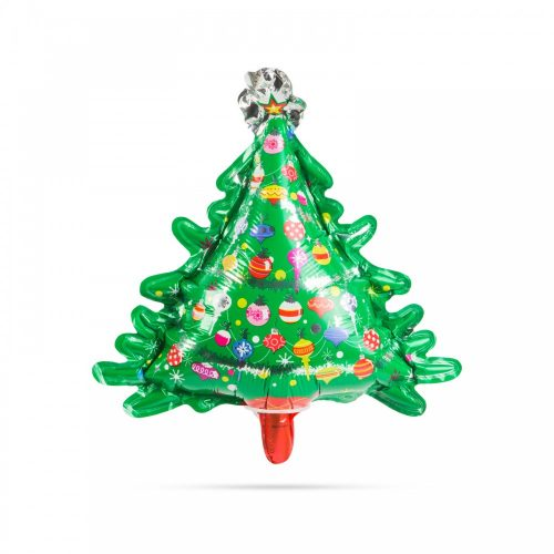 Karácsonyi lufi - fenyőfa - alumínium - 30 x 18 cm