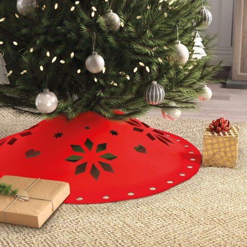 Karácsonyfa alá terítő - 90 cm x 3 mm - filc - piros