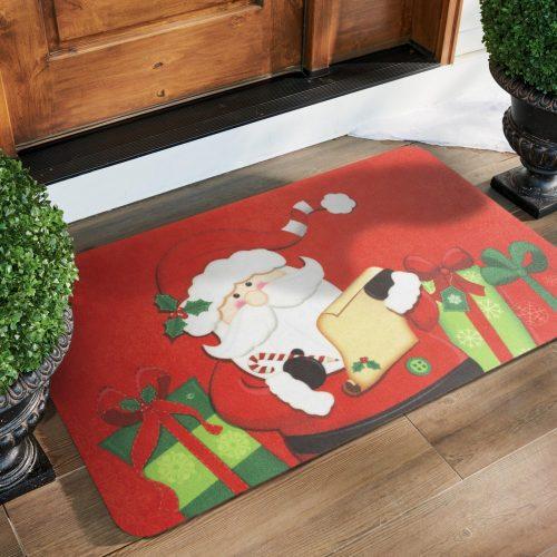 Karácsonyi lábtörlő - mikulás - 58 x 38 cm