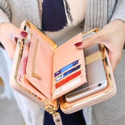 Női clutch táska, pénztárca több színben