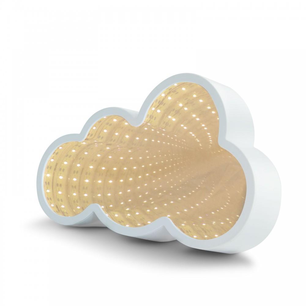 LED varázstükör - felhő alakú