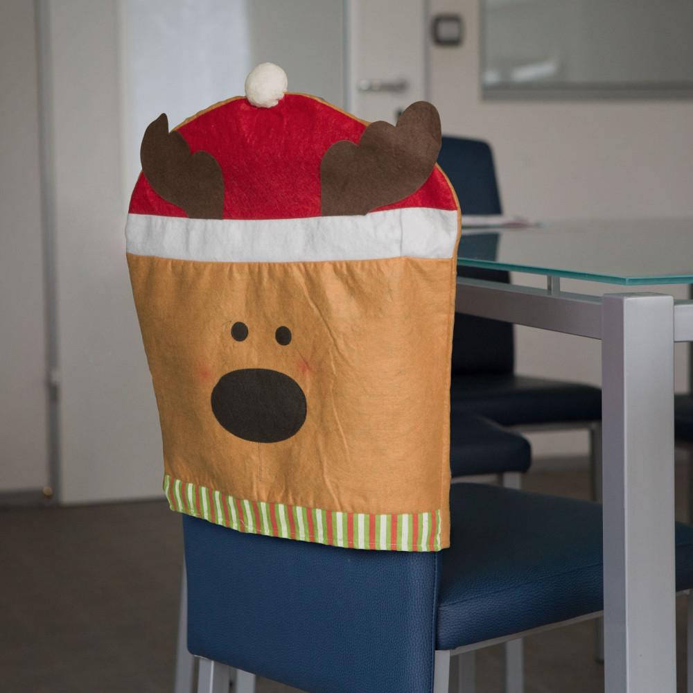 Karácsonyi Székdekor, székhuzat - rénszarvas