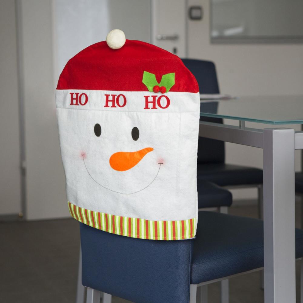 Karácsonyi Székdekor, székhuzat - hóember