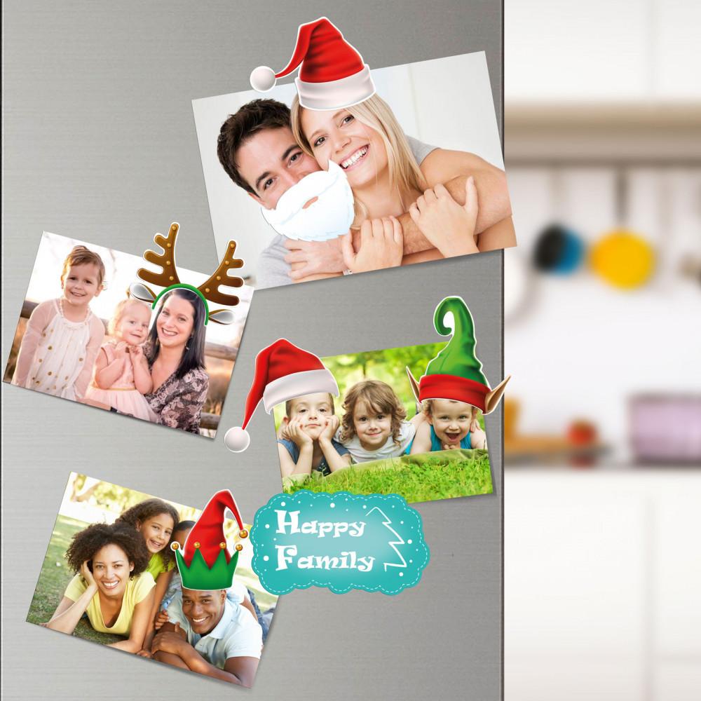 Karácsonyi hűtőmágnes családi szett