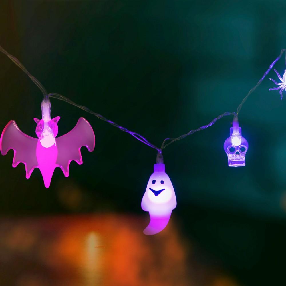 Halloween-i LED-es fényfüzér - 4 féle forma
