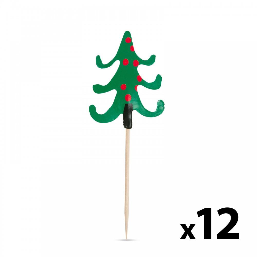 Falatka pálcika - karácsonyfa - 8,5 cm - 12 db