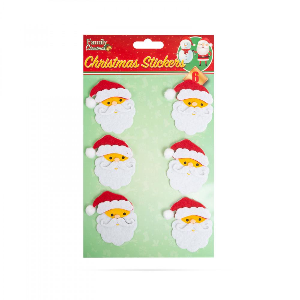 Karácsonyi 3D filc matrica szett - mikulás - 15 x 20 cm - 6 db / csomag