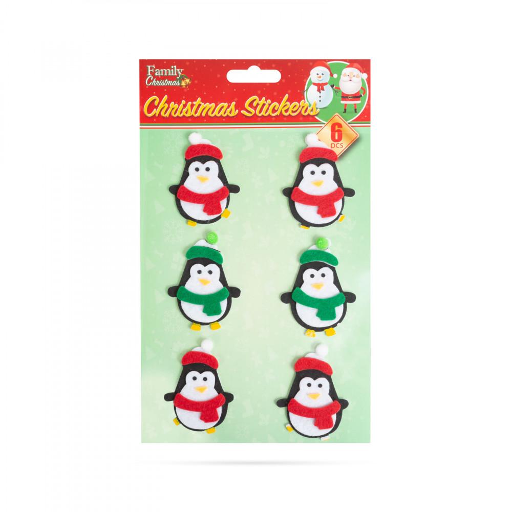 Karácsonyi 3D filc matrica szett - pingvin - 15 x 20 cm - 6 db / csomag